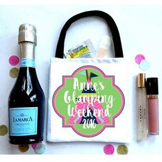 Glamping Favor Bags, Hangover recovery Bag. Camping Oh Shit kits! camping bachelorette favors.