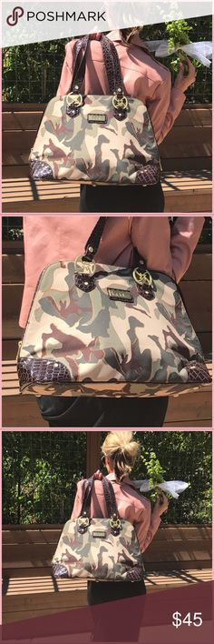Camouflage Nicole Miller! Super trendy and fun Nicole Miller travel or tote bag!. Seriously fabulous as a hang bag: I have two, never used this brand new no tags immaculate condition!. Fall bring it- Nicole Miller Bags Totes