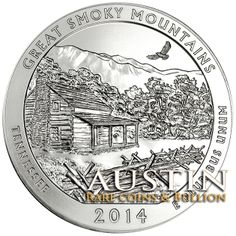 """America the Beautiful - 5 oz  Great Smoky Mountain Silver Quarters Austin Rare Coins & Bullion is proud to offer the stunning """"America the Beautiful"""" - 5 oz  Great Smoky Mountain Silver Quarter-Dollar Coins struck in very limited quantities from the United States Mint.  This release is one of the most talked about U.S. Mint Bullion products and are expected to sell out quickly.   http://www.austincoins.com/offer/2014-America-the-Beautiful-5-oz-Silver-Quarters-Great-Smoky-Mountain/16517"""