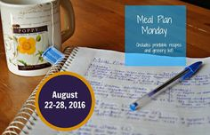 Darcie's Dishes: Meal Plan Monday: 8/22-8/28/16