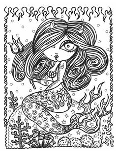the chubby mermaid coloring book for mermaid lovers not your ... - Mermaid Coloring Book