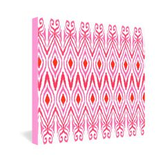 Amy Sia Ikat Watermelon Gallery Wrapped Canvas | DENY Designs Home Accessories + 40% off POP SALE today only! Use code GOPOP40 at checkout