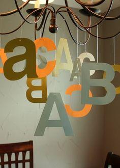 Alphabet party decor
