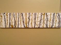 """Free Pour Lines"" Original Abstract Painting on Canvas by Michelle Durell / Durell Studio"