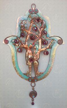 Copper Art Hamsa