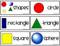 Math - Geometrical Shape Words & Pics - FREE