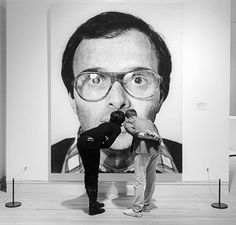 chuck close black & white portrait
