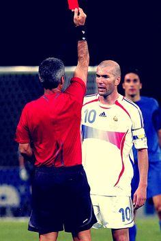 Zinedine Zidane red card