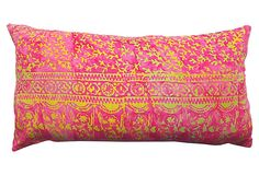 Batik 12x22 Pillow Dark Pink on OneKingsLane.com  This pillow was artfully crafted using a traditional wax-printed batik method. The feather-and-down insert ensures long-lasting loftiness.