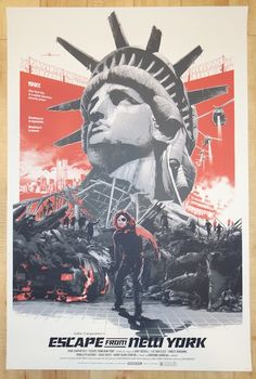 "2014 ""Escape from New York"" - Variant Movie Poster by Domaradzki"
