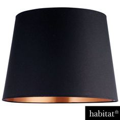 Habitat Grande Shade - Black Copper at Homebase -- Be inspired and make your house a home. Buy now. Rose Gold Lamp Shade, Gold Lamp Shades, Light Shades, Black And Grey Rose, Shades Of Black, Gold Everything, Mood Images, Grey Roses