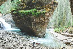 Exploring Johnston Canyon's Hidden Cave // Banff National Park | The Journey of Christine