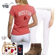 788bdf368462f Boston Red Sox Tshirt Outfit Tank Top Outfits