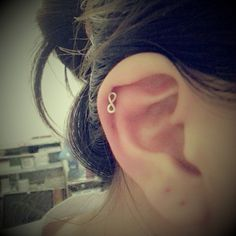 ordered this today<3  Tiny Infinity Cartilage Piercing Stud Earring by Limonadas on Etsy, $2.00