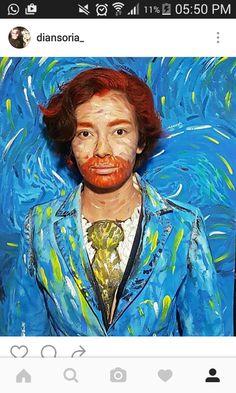 Este halloween me disfracé de Vicent Van Gogh By: Dia Soria. #vangogh #VicentVanGogh #costume #starnight #painting #paint #blue #VanGoghMuseum #Gogh #Van #landscape #acrylic #disfraz #painter #artist #pintor #artista