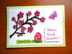 quilling húsvéti üdvözlet / quilled Easter card