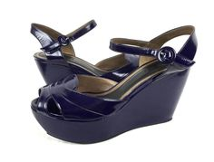 Marni Shoes 40 Purple Leather Wedge Heels Italy 9.5 #Marni #PlatformsWedges #WeartoWork