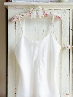 """Sewing Tutorial & Pattern/Template: Pin-tucked, bias-cut silk (or other lightweight to medium woven cloth) camisole, by Tessa Evelegh, from her book """"Sewing Made Simple"""" and featured on www.allaboutyou.com"""
