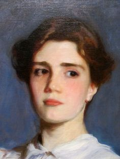 (detail) Portrait of Sally Fairchild, 1887. Oil on canvas (1856-1925) Stanford Museum