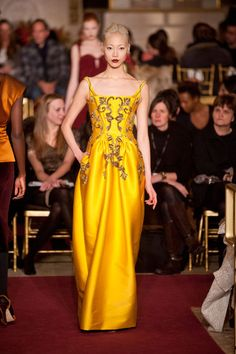 Zac Posen Fall 2013 #Runway: #fashion
