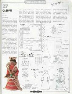 Photo from album on Yandex. Crochet Christmas Ornaments, Holiday Crochet, Christmas Knitting, Christmas Crafts, Crochet Fairy, Crochet Angels, Crochet Flowers, Crochet Dolls Free Patterns, Amigurumi Patterns