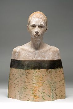 talian artist Bruno Walpoth creates unbelievably lifelike sculptures of people with wood. The rings and knots in each piece of wood that the sculptor works with adds an artistic element to the completed figure. All at once, they mimic the textured imperfections of humans and give a figurative spirit to the trees from which it came.