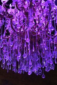 Purple Bead Chandelier