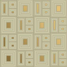 Frank Lloyd Wright® Design Collection Wallpaper | Quadrangles by Bradbury & Bradbury Art Wallpapers