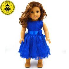 手作り15色プリンセスドレス人形服用18インチトイドールアメリカンガール人形服とアクセサリーd-9