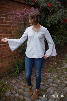 Free Notion - review of Dove blouse