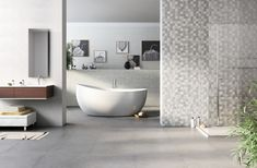 Trendy Surfaces: Company Page Admin Naxos, Maker, Downstairs Bathroom, Decoration, Oysters, Bathtub, Palette, Porcelain Tiles, Beige