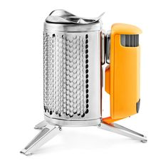 Turn fire into electricity and charge phones, headlamps, and lights with this USB wood-burning CampStove. Smokeless flames cook meals and boil water in minutes