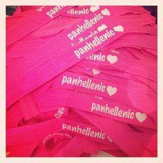 Panhellenic My Ties. Perfect for recruitment in the fall!