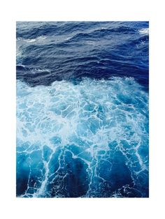 Wavy Blue Wall Art Prints by CaroleeXpressions | Minted