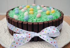 So cute for Easter! Kit Kat cake.
