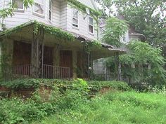 Abandoned houses in East Cleveland, Ohio. 1 in 5 houses in East Cleveland are abandoned.