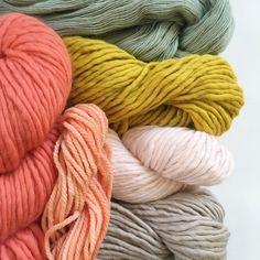 rachel denbow's color palettes, autumn, peach, lime, green, soft, wool, yarn, photography