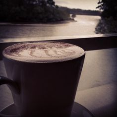 A moody Bondi Chai on a cloudy day at Shearwater Cafe in #CoffsHarbour ...