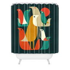 Budi Kwan Flock Of Bird Shower Curtain | DENY Designs Home Accessories