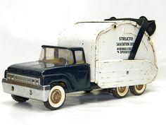 Vintage Metal STRUCTO GARBAGE TRUCK Antique Pressed Steel Toys DieCast Vehicle