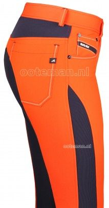 Eurostar breeches, mandarin red. Would be good for when I ride in the fields during hunting season. If they cannot see me in these, then we do have a problem.