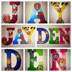 Hey, I found this really awesome Etsy listing at https://www.etsy.com/listing/225421939/custom-wooden-letters-hanging-paw-patrol