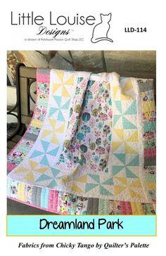 "Baby Quilt Pattern -  Dreamland Park Modern Baby Quilt - Size 40"" x 46"" -  Confident Beginner -PDF INSTANT DOWNLOAD Baby Quilt Size, Baby Quilts, Quilts For Sale, Panel Quilts, Quilt Sizes, Quilting Projects, Quilt Patterns, Pattern Design, I Shop"