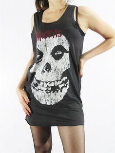 MISFITS The Crimson Ghost Music Women Shirt Rock Tank by punkalife, $15.99