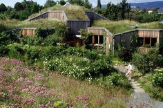In Germany, it is estimated 12% of all flat-roofed buildings are living roofs, a number that is rapidly increasing as the German green roof industry continues to grow 10 to 15% per year.    Living Roof, Hessen, Germany.  Architect: Gernot Minke gernotminke.de