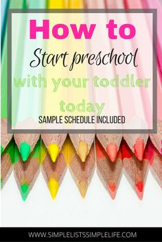 How to Start a Preschool Schedule with your Toddler - Simple Lists Simple Life Preschool Schedule, Preschool At Home, Preschool Classroom, Toddler Preschool, Preschool Crafts, Toddler Activities, Preschool Plans, Learning Arabic, Kids Learning