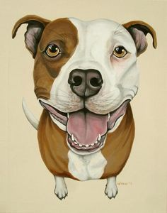 Pit Bull Painting  Pit Bull Art  Dog Pop Art  Dog by ArtbyWeeze, $350.00