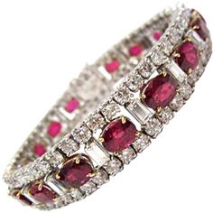 1STDIBS.COM Jewelry & Watches - Unknown - Stunning Ruby Diamond and... ❤ liked on Polyvore