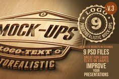 Check out Photorealistic Logo Mock-Ups Vol.3 by Cruzine on Creative Market