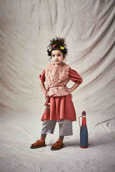 Ethnic world inspiration for a layered winter look at Tia Cibani Kids